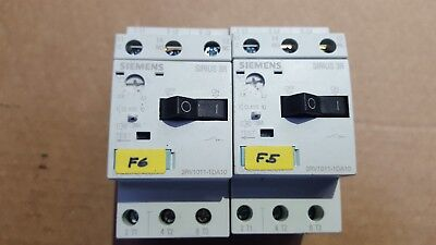 Lot Of 2 Siemens 3Rv1011-1Da10 Sirius 3R Starter (R2S6.3B2)