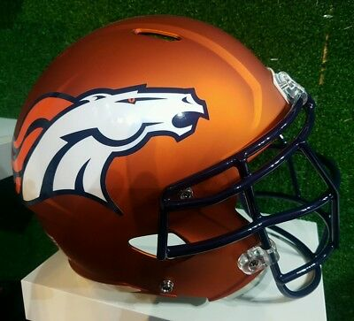 NFL Denver Broncos Replica Blaze Custom Helm