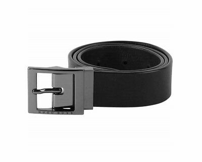 Hugo Boss Kids J20Z00 M78 Reversible Boys Leather Belt Black Blue