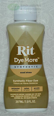 RIT Liquid Synthetic Fabric Dye, DyeMore Synthetic, 207ml SAND STONE