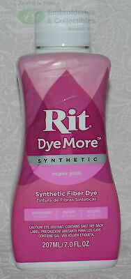 RIT Liquid Synthetic Fabric Dye, DyeMore Synthetic, 207ml SUPER PINK