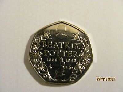 Beatrix Potter 150Th Aniversary 50P From Sealed Bag Uncirculated