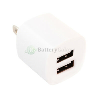 100X Fast Dual 2 Port Wall Charger for Samsung Galaxy Active Plus S4 S5 S6 S7