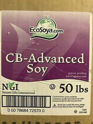 EcoSoya CB advanced soy wax flakes container blend 1kg