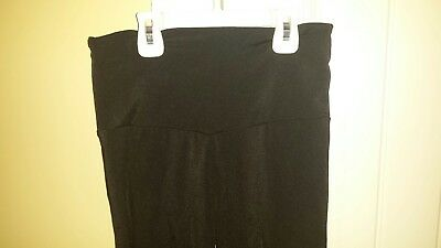 Women's Black Shiny Lycra high waist spandex dance leggings by Alexandra Size S
