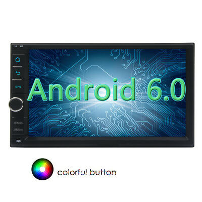 7'' Android 6.0 Car Video Stereo Multimedia Player 3D GPS Radio RDS WIFI Mirror