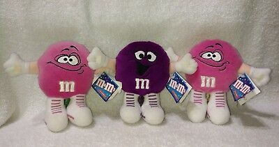 M&M's 1998 Mini's Swarmees Plush Collectibles Lot Of 3