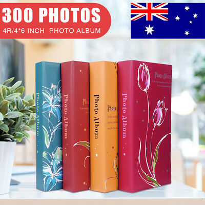 6 x 4 Holds 300 Photos Album Memories Slip In Case Memo Photo Flower Album Book