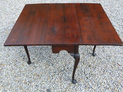 Rare Phila. C.1740 Queen Anne Walnut Dining Table- Old Surface- Reduced Price!