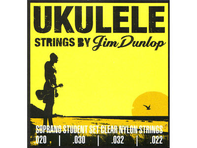 JIM DUNLOP UKULELE SOPRANO STRINGS Warm w/Exceptional Clarity Made In USA