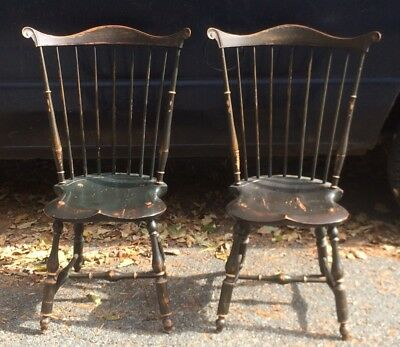 PAIR DR DIMES Primitive Style  Windsor Chair Chairs
