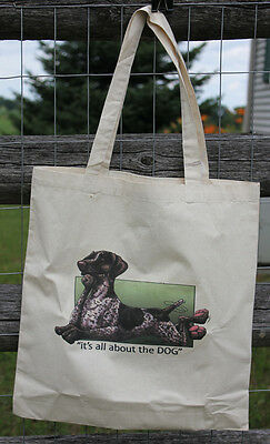 "German Shorthaired Pointer GSP Canvas Tote - ""Its all about the Dog"" NEW"