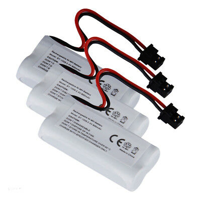 3X Rechargeable Cordless Phone Battery 800mAh for Uniden BT-1008 White S7I4