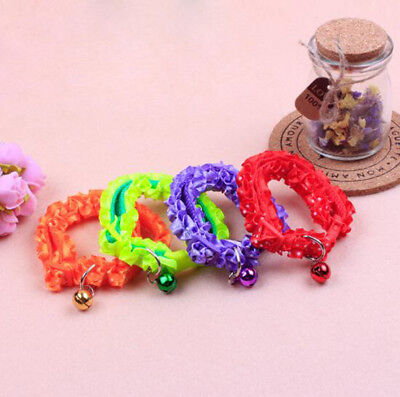1Pcs Pet Collar Cat And Dog Decorated bells Anti-lost Small Collar Lace Collar