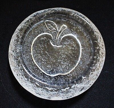 Mid century glass - SET of 9 APPLE MOTIF Coasters - Hirota, Japan