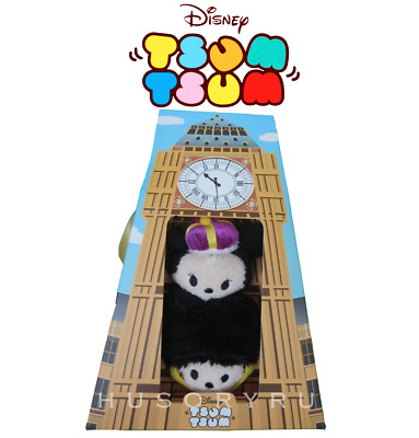 Disney Store Mickey and Minnie Mouse ''Tsum Tsum'' Plush London Set 3 1/2''