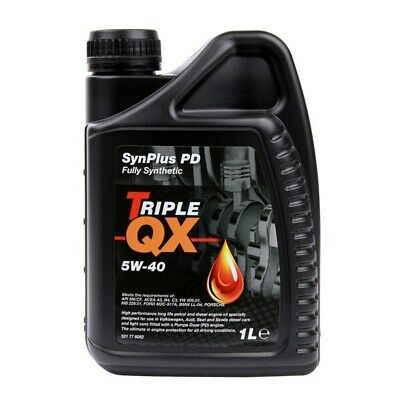 Car Engine Oil Triple QX 5W40 Fully Synthetic For Petrol Diesel Engines 1L Litre