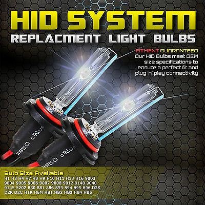 Two 55W Xenon HID Kit 's Replacement Light Bulbs H1 H3 H4 H7 H10 H11 9005 9006