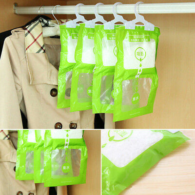 Scented Hanging-Dehumidifier Bag Wardrobe Anti Damp Mildew Mould Absorb Moisture