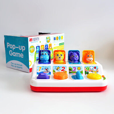 Baby Toddler Education Early Development Toy Pop Up Animal Surprise Game #35834
