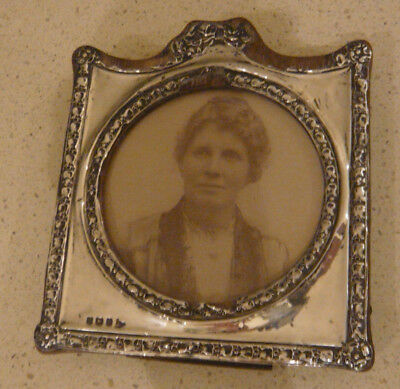 Antique Small Solid Silver Easelback Photograph Frame Walker & Hall 1907 B'ham
