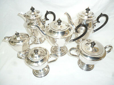 VINTAGE 6 pce SILVER TEA & COFFEE SET HECWORTH - very good condition