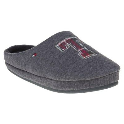 New Mens Tommy Hilfiger Grey Cornwall Textile Slippers Slip On