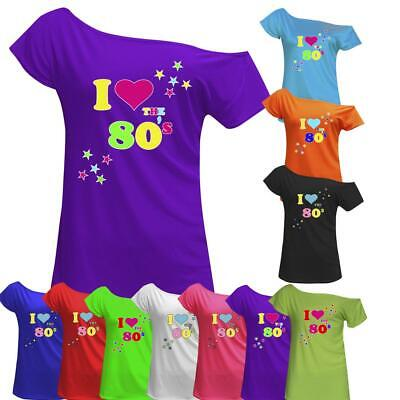I Love The 80's T-Shirt Fancy Dress Retro Outfit Hen Party Top 6016455 ®