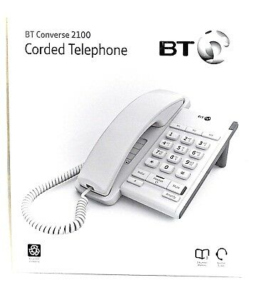 BT Converse 2100 Corded Chalk White Phone  040205 Headset Socket Boxed Brand New