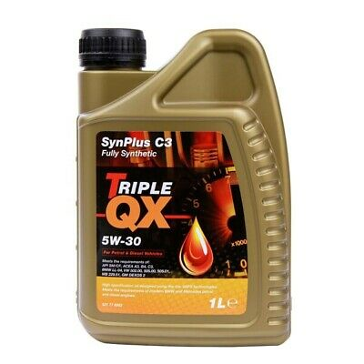 Engine Oil Triple QX 5W30 Fully Synthetic Low SAPS C3 Petrol Diesel 1L 1Litre