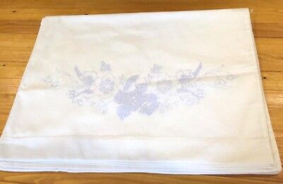 Vintage Stamped Hand Embroidery Pair of Pillow Cases To Embroider, Flowers