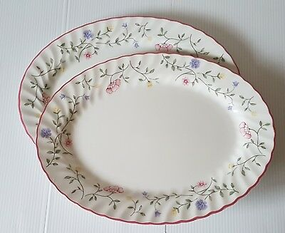 Johnson Brothers Summer Chintz 2 X Oval Plates Serving / Steak Plates