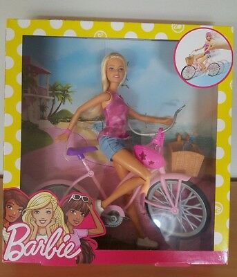 NEW Barbie Doll & Bike Glam Set BNIB