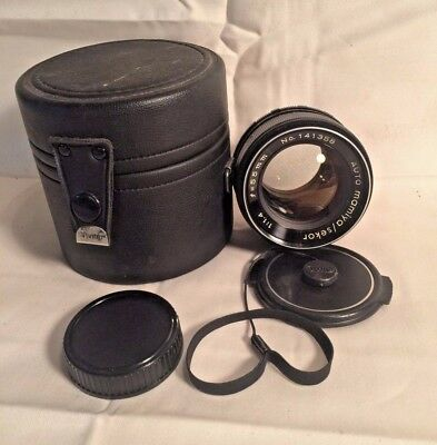 vintage AUTO MAMIYA SEKOR f/1.4 55mm SLR Camera lens PENTAX M42 Screw Mount CAPS