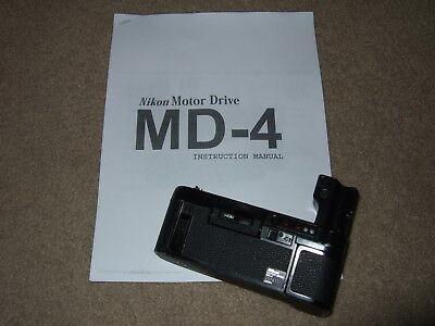 NIKON MD-4 WINDER F3 F3HP HP MD4 with instructions TESTED