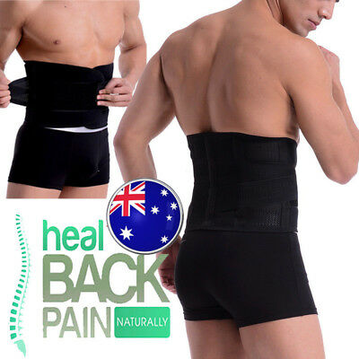 Lumbar & Lower Back Support Belt Brace Strap, Pain Relief, Posture Waist Wrap AU