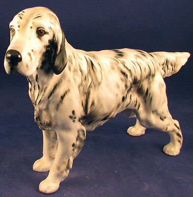 Royal Doulton English setter hunting dog HN1050 old vintage England FREE SHIPPNG