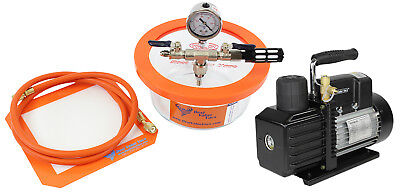 Best Value Vacs 1.75 Pyrex Vacuum Chamber and VE225 4CFM 2 Stage Vacuum Pump Kit