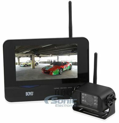 """BOYO Vision 2.4GHz Wireless Rear View Night Vision Camera with 7"""" Color Monitor"""