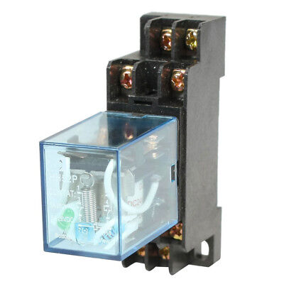 HH52P DC 24V Coil DPDT 8 Pins Electromagnetic Power Relay with DYF08A Base, A7N8