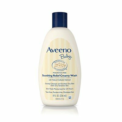 Aveeno Baby Soothing Relief Creamy Wash, Fragrance Free With Natural Colloidal O