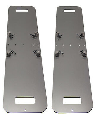 Pair of 12X48 Silver Steel Base Plate Fits Global Truss F23 F33 F34 SQ and more