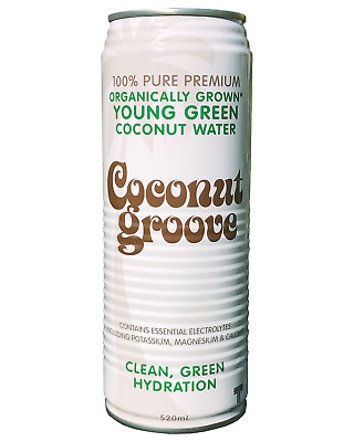Coconut Groove 100% Pure Young Green Coconut Water 520mL case of 24