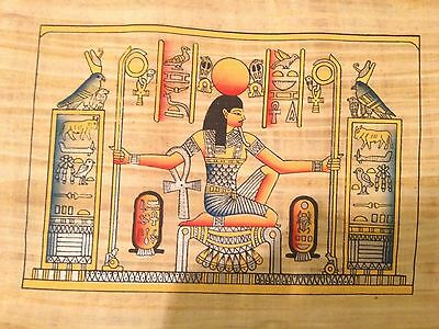 Ancient Egyptian Heh the God of Eternity Handmade Papyrus Art Painting Egypt