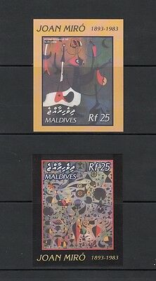 ART/PAINTINGS - Maldives- 2003 IMPERF sheets  (SC 2719-20)-MNH-X572