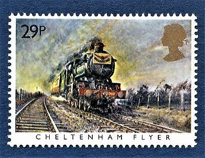 GB Cheltenham Flyer / GWR  /  on a Stamp - U/M 13