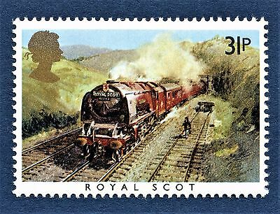 GB Royal Scot / LMS / Sir Henry Fowler / Sir William Stanier on a Stamp - U/M 13