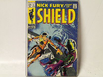 NICK FURY, Agent of SHIELD issue #11 Marvel Comics 1969 VG/FN C$