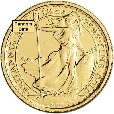 Great Britain Gold Britannia £25 - 1/4 oz - BU - Random Date
