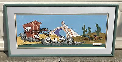 "ROADRUNNER WILE E COYOTE ""THE FANATIC"" CHUCK JONES WARNER BROS Sgnd. Cel LE 750"